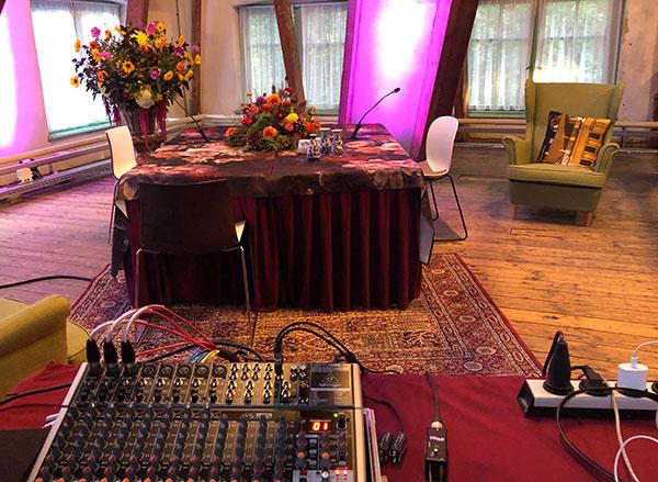 Live video Studio Paleis het Loo Apeldoorn met audio mixer