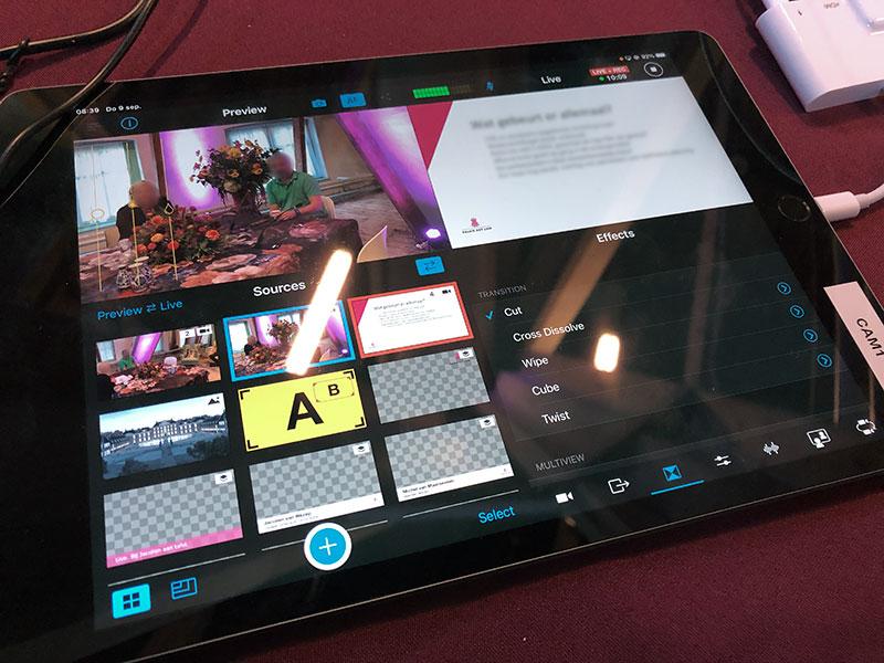 Eenvoudig te bedienen live streaming video met behulp van iPad
